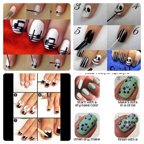 nails designs you can do yourself 4 different cute easy nails design you can do it by