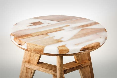the stool with a wood transplant yanko design