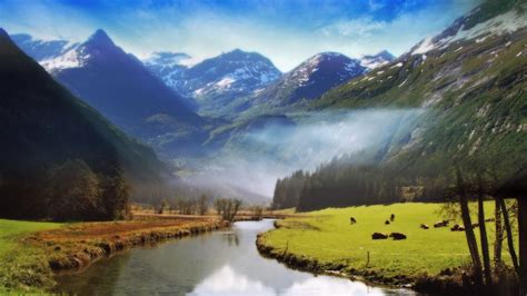 big river flowing  mountain wallpapers hd