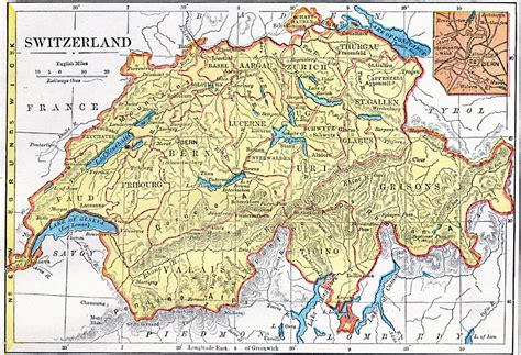 physical map of switzerland switzerland