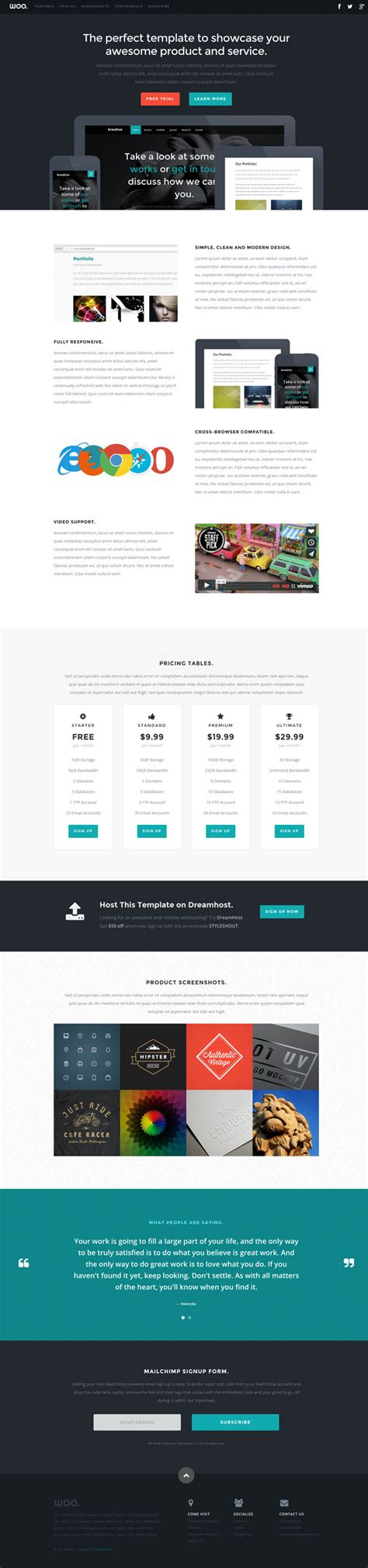 woo templates woo free html one page template free