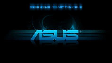 Download Wallpaper 1920x1080 Asus, Logo, Blue, Black Full