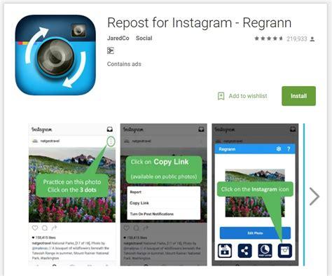 Tutorial Repost Instagram | repost without watermark on instagram with regrann app