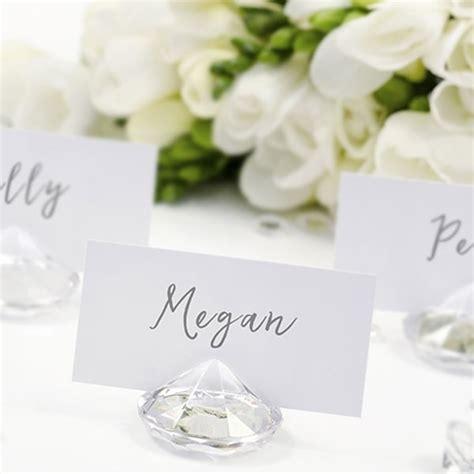 porte nom de table mariage marque place en forme de diamant vendu par 10 en