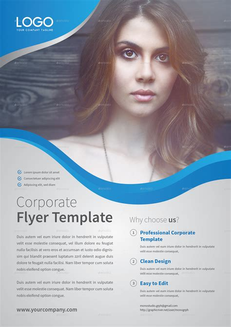 corporate flyer templates corporate flyer template set 6 by monogrph graphicriver