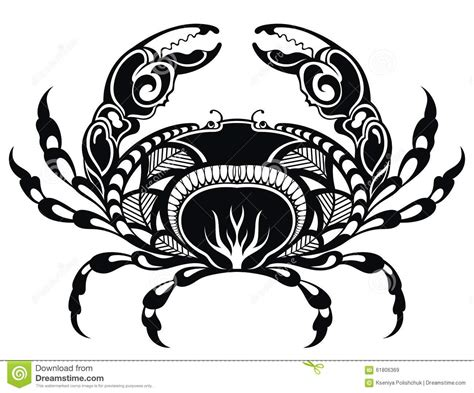 crab stock vector illustration of beach isolated boiled