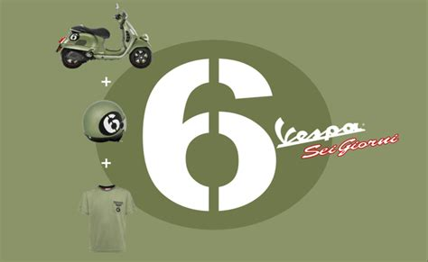 Vespa Aufkleber Sei Giorni by Vespa Gts300 Sei Giorni Accessories Available At Scooter