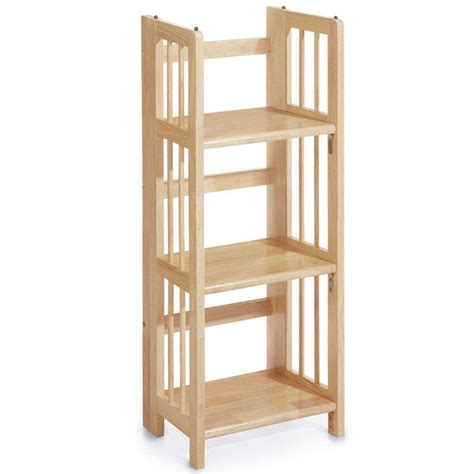 casual home casual home natural folding stacking open bookcase
