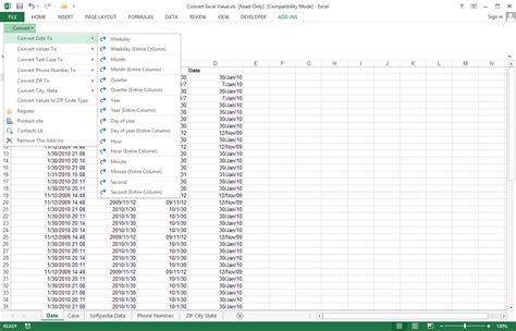 format date value in excel convert excel value download