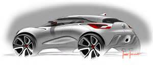 renault captur concept design sketch car body design