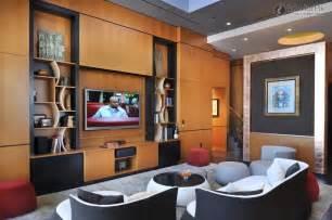 Modern living room tv cabinet wall design effect drawing living room