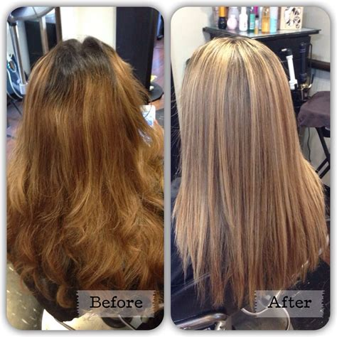 balayage highlights before and after home kit before after dimensional balayage highlights