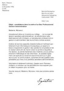 Exemple De Lettre Motivation Administration Modele Lettre De Motivation Administration Document
