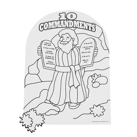 free coloring page moses 10 commandments 114 best sunday school coloring sheets images on pinterest