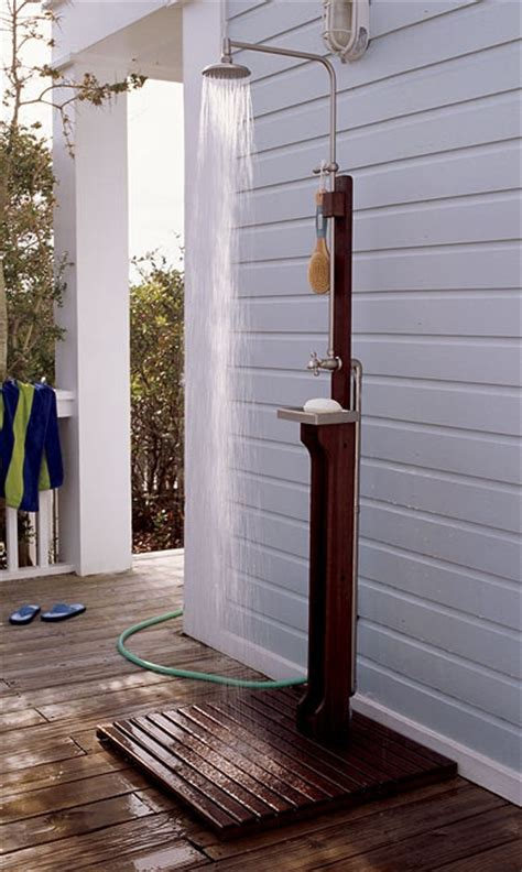outdoor shower best outdoor showers with garden hoses 2010 apartment