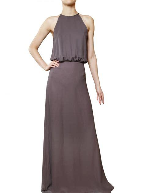 Gray Silk Dress 20738gym lyst raoul silk georgette dress in gray