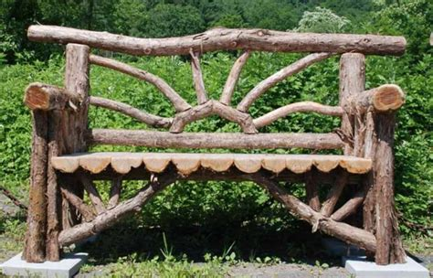 Baumstamm Gartenbank