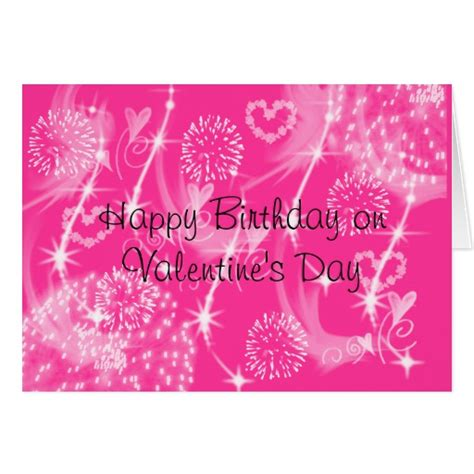valentines birthday card happy birthday on s day greeting card zazzle