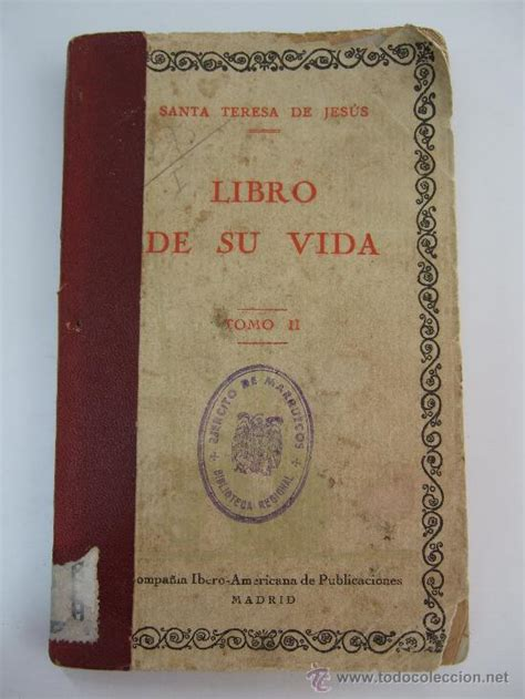 libro teresa santa teresa de jesus libro de su vida tomo comprar libros antiguos biograf 237 as en
