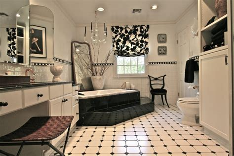 black master bathroom 11 black and white floor designs plans flooring ideas