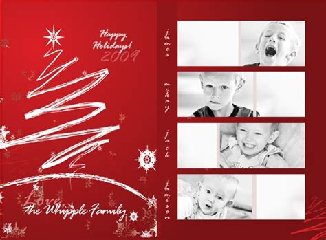 Free Christmas Card Templates For Photoshop Invitation Template Card Photo Collage Templates
