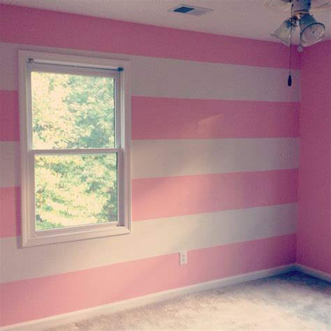 pink and white striped bedroom walls pink and white horizontal wall stripes nursery babygirl