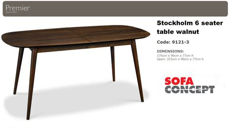 couch with dining table stockholm dining table 6 seater walnut sofa concept