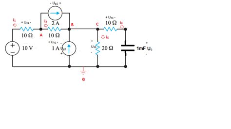 capacitor voltage at t 0 what are the voltage and current of the capacitor at t gt 0 in this circuit electrical