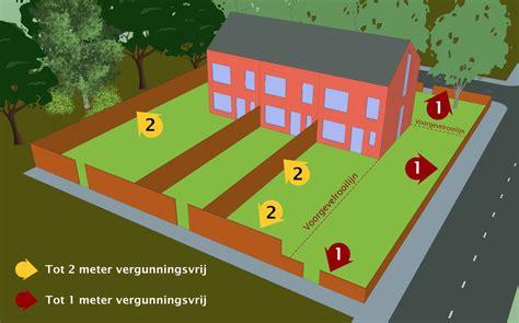 schuur achtertuin vergunning schuttinghoogte bepalen erfgrens maximale schutting hoogte