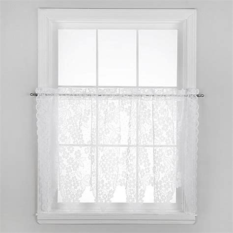 tier curtains 30 inch buy dogwood 30 inch window curtain tier pair in white from