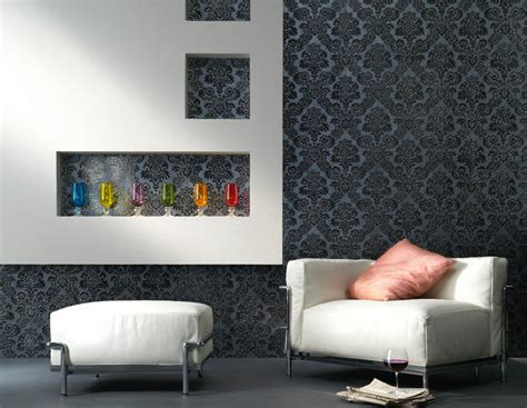 Houzz Living Room Feature Wall Embossed Tile Lounge Feature Wall Contemporary Living