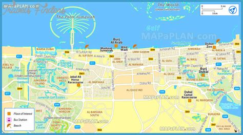 dubai in map dubai map travelsfinders