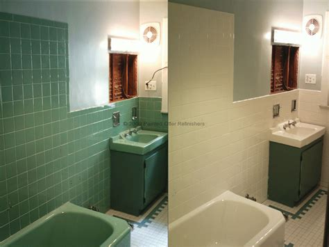 painted bathroom tile before after 171 bathtub refinishing tile reglazing