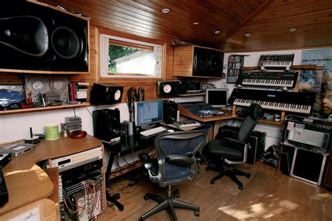 home music studio design ideas home studio desk and equipment in wooden ceiling room with