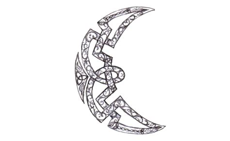 crescent moon tattoo design celtic crescent moon drawing www imgkid the image