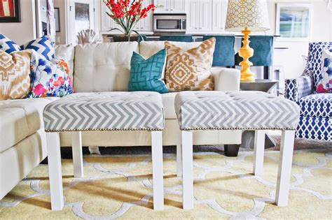 Ikea Lack Ottoman by Remodelaholic From Bargain To Beautiful 29 Stylish Ikea
