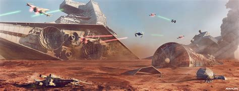 star wars battles concept art star wars battle of jakku concept art by dylan kowalski on