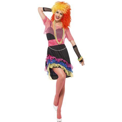 80s rock star costume girls adult ladies eighties 80s pop star rock punk skater girl