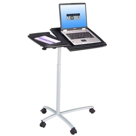 Adjustable Standing Laptop Cart In Graphite Rta B001n Gph06 Laptop Desk Cart