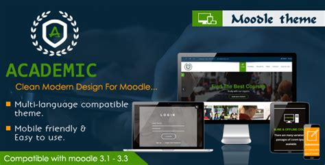 moodle themes themeforest academic responsive moodle theme by cmsbrand themeforest