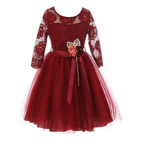3 4 Sleeve Mesh Overlay Dress just burgundy floral lace sleeve