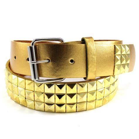 Studded Belt metal studded leather stud belt plain pyramid rock