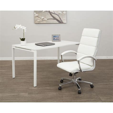 white executive desk chair white faux leather desk chair chairs seating