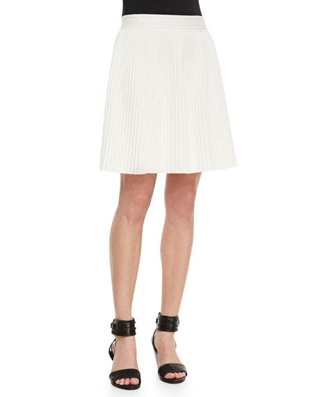 pleated stretch jersey skirt