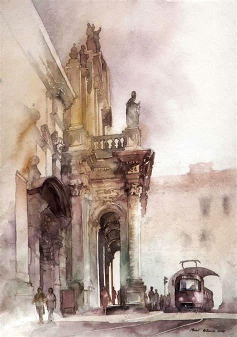 watercolor urban tutorial must see urban watercolor paintings from different artists