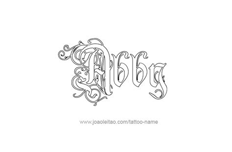coloring pages of the name abby abby cursive tattoo designs sketch coloring page