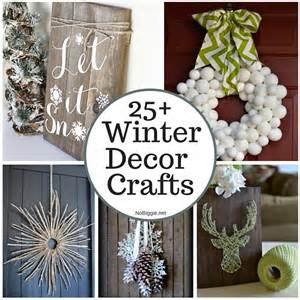 Crafts For Home Decoration 25 Winter Decor Crafts Nobiggie