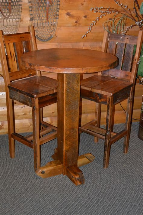 Pub Tables by Teton Barn Wood Pub Table With Copper Top Rustic