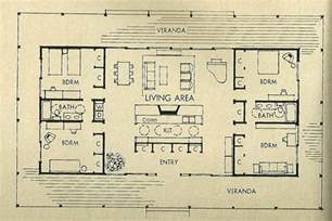 Mid Century Modern Floor Plans the kitchen is in the middle of the home and quite open i like this a
