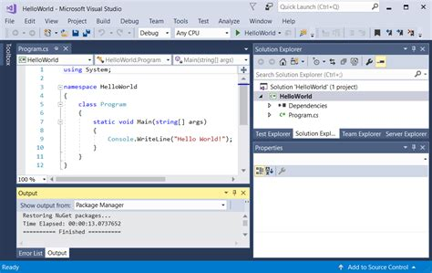 windows 10 visual studio 2015 tutorial compilaci 243 n de una aplicaci 243 n hola a todos con net core y